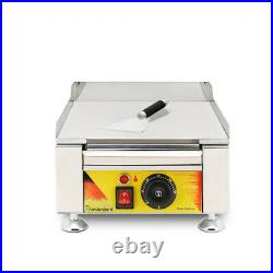 Stainless Steel Electric Thermostat Griddle Grill BBQ Plate Pan Commercial 110V