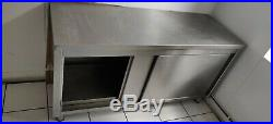 Stainless Steel Floor Standing Catering Commercial Kitchen Storage Cupboard