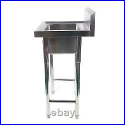 Stainless Steel HAND WASH BASIN Kitchen Catering Bowl Sink with Stand Commercial
