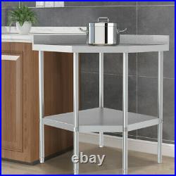 Stainless Steel Kitchen Corner Unit Table Commercial Catering Prep Work Bench UK