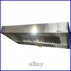 Stainless Steel Kitchen Extraction Canopy / Hood, Commercial