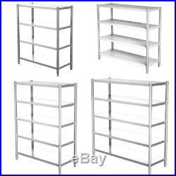 Stainless Steel Kitchen Shelf 3/4 Tier Shelving Rack Commercial Catering Storage