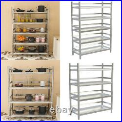 Stainless Steel Kitchen Shelving Unit 4/5 Tier Storage Rack Commercial Catering