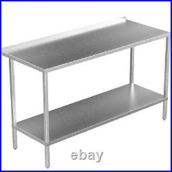 Stainless Steel Kitchen Table Commercial Catering Heavy Duty Adjustable Shelf