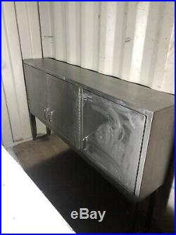 Stainless Steel Large Cupboard, commercial kitchen storage Unit. 3 door