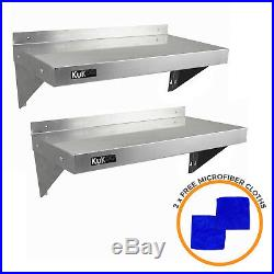 Stainless Steel Shelves 2 x Commercial Catering Kitchen Wall Shelf 900 1940mm
