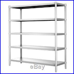 Stainless Steel Shelving 1500mm Heavy Shelf/Rack Storage Unit Kitchen Commercial