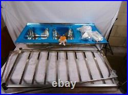 Stainless Steel Sink Catering Kitchen Commercial Double Bowl Right Hand B0765