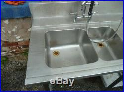 Stainless Steel Sink Wash Station Commercial Kitchen Food Restaurant Heavy Duty