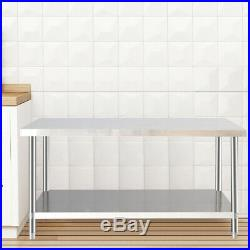Stainless Steel Table Food Prep Commercial Work Bench Kitchen Worktop/Wall Shelf