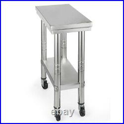 Stainless Steel Work Bench Kitchen Catering Food Prep Table Commercial Worktop