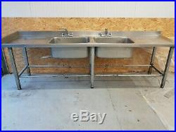 Stainless steel sink commercial catering kitchen single bowl with Taps