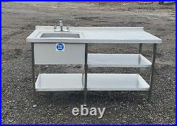 Stainless steel sink heavy guage commercial kitchen sink taps 3 months old