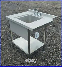 Stainless steel small sink heavy guage commercial kitchen sink taps 3 months old