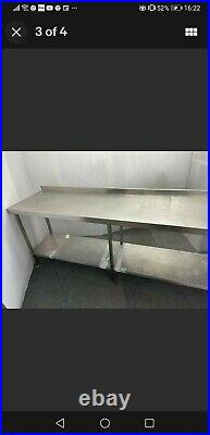 Stainless steel table for kitchen heavy duty commercial 230X61X85CM 07858636895