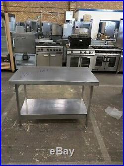 Stainless steel table strong kitchen worktop commercial catering 120X65X90CM