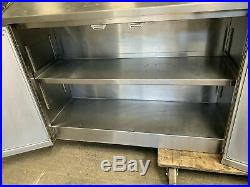 Stainless steel wall hung commercial kitchen cupboard/cabinet £200 + vat