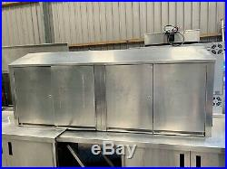 Stainless steel wall hung commercial kitchen cupboard/cabinet £300 + vat