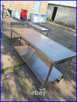 Stainless steel worktop table for kitchen heavy duty commercial 180X70X83 CM