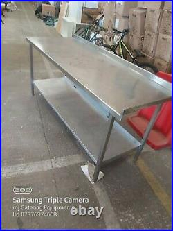 Stainless steel worktop table for kitchen heavy duty commercial 185X70X85CM