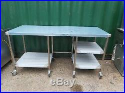 Stainless steel worktop table for kitchen heavy duty commercial 195X80X99 CM NEW