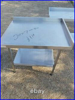 Stainless steel worktop table for kitchen heavy duty commercial 90X70X90 CM