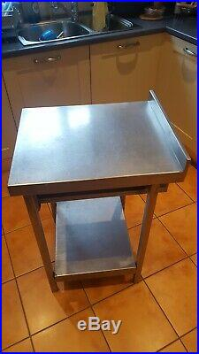 Used Commercial Kitchen Stainless Steel Work Prep Table with Backsplash & drawer