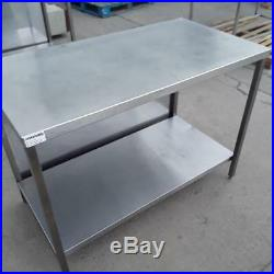 Used Commercial Stainless Steel Table Shelf Work Bench Prep Kitchen Food Res