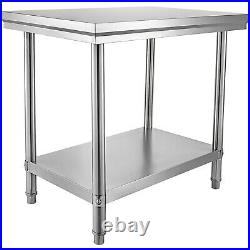 VEVOR Stainless Steel Work Bench Table 24X36 Commercial Kitchen Catering Shelf