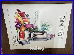 VITA MIX VITA-MIXER Maxi 4000 Commercial Blender Mixer Stainless Steel With Book