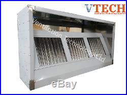 VTECH Commercial Kitchen Stainless Steel Canopy (Delivery Available)