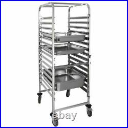 Vogue Gastronorm Racking Trolley 15 Level Stainless Steel Commercial Kitchen