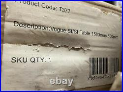 Vogue Stainless Steel Prep 1500X600 Table Kitchen Restaurant Catering Commercial