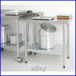 Vogue Stainless Steel Table 900x1800x700mm Commercial Kitchen Restaurant