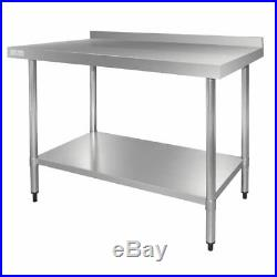 Vogue Stainless Steel Table With Upstand 1800mm kitchens Commercial Catering