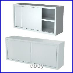 Wall Hung Stainless Steel Cupboard 4FT 5FT Commercial Kitchen Floating Cabinet