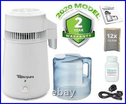 White Water Distiller, Stainless Steel, Poly Jug, 2020 Model Make Water Pure